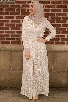 Zara lace cardigan hijabi fashion hani hulu