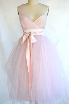 Sweetheart neckline, one shoulder, and tulle? Love.