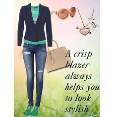 """A crisp blazer always helps you to look stylish"" by cbslifestylist on Polyvore"