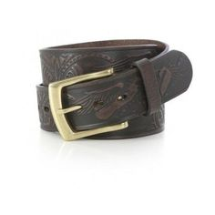 Wrangler Men's 100% Leather Brown Eagle Belt #Wrangler