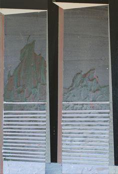JESSICA PETERS, Sans titre, 2014, Acrylique et peinture aérosol sur toile, 55,8 x 40,6 cm. Œuvre disponible à l'Encan-bénéfice du MACL, le 9 novembre 2014.