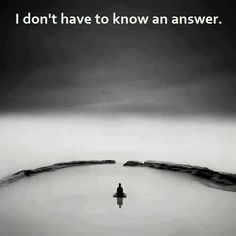 Answers are so coveted in this society. But why? Isn't it the questions that drive us forward as a species? The mysteries of this world are drying up. Why not appreciate the ones that are still left? :)