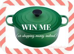 December Giveaway: Le Creuset French Oven OR $325 Amazon Gift Card!  Read more: http://holisticsquid.com/december-giveaway-le-creuset-french-oven/#ixzz2nHZ3Py9m