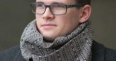 Gentlemen's lambswool scarves from Fraser Knitwear in the Shetland Isles, Scotland.