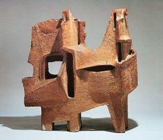 Shindo TSUJI   馬と人 (陶彫) 1958