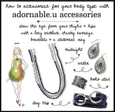 How to accessorize for your body type with adornable.u accessories pear