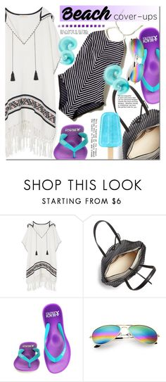"""""""The Big Cover-Up"""" by barbarela11 ❤ liked on Polyvore featuring Tory Burch, Loeffler Randall and Beach Athletics"""