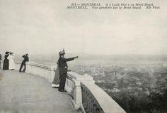 """""""Montreal A Look Out on Mont Royal: Montréal – Vue générale sur le Mont Royal"""", vers 1908. Carte postale."""