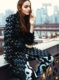 visual optimism; fashion editorials, shows, campaigns & more!: nowy wspanialy jork: zuzanna bijoch by kevin sinclair for elle poland october 2013