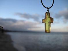 Amber Cross Pendant  Baltic Amber Necklace by AmberRoadJewelry, $35.00