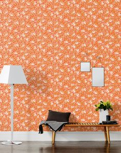 Rifle Paper Co. for Hygge & West - Rosa Wallpaper in Persimmon