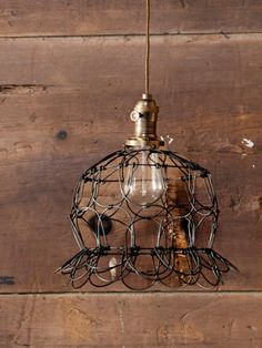 Peddlers Home Design Wire Lamp - Country Living