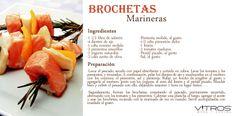 Con motivo de la semana española de la Escuela Culinaria Vitros te dejo esta deliciosa receta de Brochetas Marineras. Un plato exquisito para sorprender a tus invitados. #Vitrosrecetas #ESCUELACULINARIAVITROS