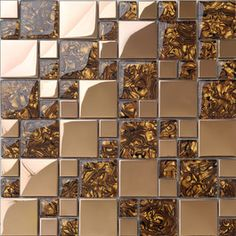 Metal mosaic tile
