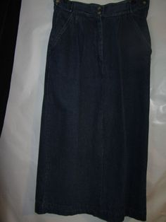 Tangibles Skirt Modest Modesty,Maxi skirt Sz 11/12, Blue, Cotton,Mid-calf Solid #Tangibles #Maxi