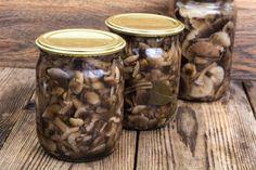 Mason Jars, Stuffed Mushrooms, Food And Drink, Vegetables, Kitchen, Stuff Mushrooms, Cooking, Kitchens, Mason Jar