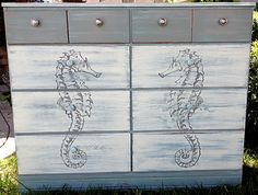 DIY Coastal Style Dresser - Full Tutorial! - The Graphics Fairy