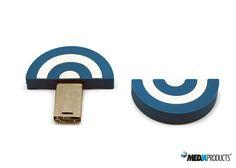 Pen USB produzido em PVC moldável.