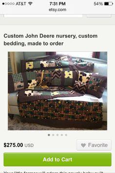 John Deere baby bedding