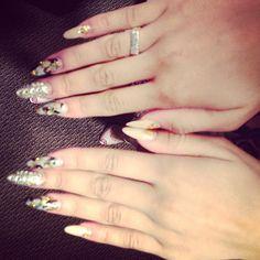 Zendaya's Nails During Her Latest Radio Disney Interview