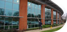 Our window cleaning specialists are expertly trained, security cleared and insured.  www.nyecleaning.co.uk/service/commercial-window-cleaning/