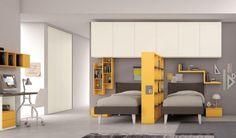 Una camera per due dove ognuno ha il suo spazio. Strutture dinamiche per organizzare lo spazio per dare sfogo alla propria creatività.