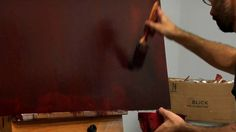 Great video from MoMA explaining The Painting Techniques of Mark Rothko: No. 16 (Red, Brown, and Black)