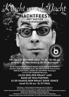 Nachtburgermeester event #poster #redbol