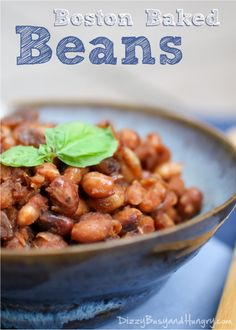 Boston Baked Beans from DizzyBusyandHungry.com - Homemade vegan baked beans with even more sweet and tangy flavor than traditional baked bean recipes!