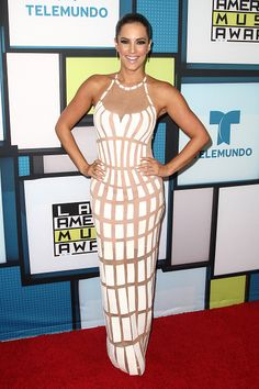 Gaby Espino poses in the press room during the Telemundo's Latin American Music Awards 2015 held at Dolby Theatre on October 8 2015 in Hollywood...