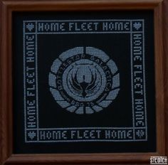 Battlestar Gallactica cross stitch.  Want!  #bsg #crossstitch