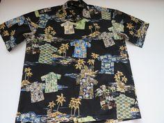 Mens Hawaiian Aloha Shirt by Royal Creations Size Large | Etsy Vintage Shirts, Vintage Men, Hawaiian Wear, Tree Hut, Free Studio, Aloha Shirt, Monogram Initials, Ready To Wear, Men Casual