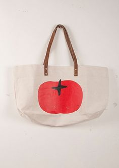 I don know why i love this so much, but i do. Tote Bag canvas Tomato - as BoboChoses.com