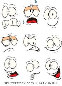Cartoon faces with different expressions. Vector clip art illustration with simple gradients. All in a single layer. Cartoon faces with different expressions. Vector clip art illustration with simple gradients. All in a single layer. Art And Illustration, Character Illustration, Cartoon Faces Expressions, Art Pierre, Clip Art, Rock Painting Designs, Rock Crafts, Pebble Art, Stone Art