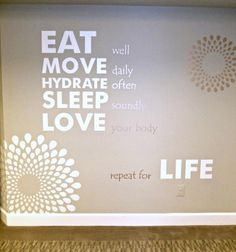 Inspirational mural in one of our home gyms. Sports & Outdoors - Sports & Fitness - home gym - http://amzn.to/2jsMKm8
