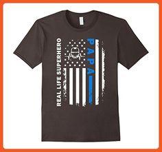 Mens Real Life Superhero PAPA: Gift Shirt For Dads 3XL Asphalt - Superheroes shirts (*Partner-Link)