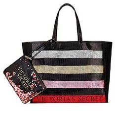 5c999a57bf NEW Victoria s Secret Tote Bag Bling Sequin Pouch 2017 Black Friday Lmtd  Edition