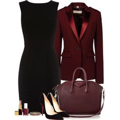 Job Interview by cora97 on Polyvore featuring Warehouse, Burberry, Christian Louboutin, Givenchy, Hermès, Essie and Tom Ford