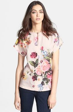Ted Baker London 'Nude Oil Painting' Print Top available at #Nordstrom