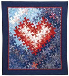 Tessellating Hearts Quilt Pattern by Jeri Auty's through AQS