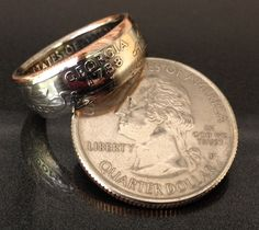 State Quarter Coin Rings Georgia by TCS Customs, $18
