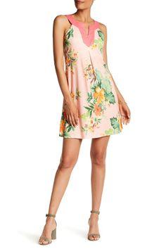 Sleeveless Split V-Neck Floral Dress by Tommy Bahama on @nordstrom_rack