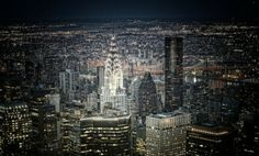 NY at night by Pinky and the Brain