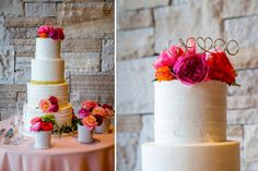 Simple & colorful cake (images: @davidlynnphoto via @coweddingsmag)