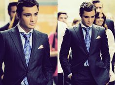 Ed Westwick, so perfect, so in love with his character Chuck Bass in gossip girl
