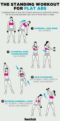 4 Standing Moves for a Super-Flat Stomach – CatKiwi