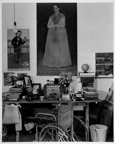 Working Table of Frida Kahlo  -  Gisële Freund  1951  German  1908-2000