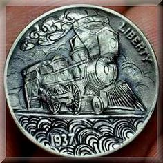 The Hobo Nickle of the Depression : a Folk Art Italy Pictures, Hobo Nickel, Coin Art, World Coins, Arte Popular, Rare Coins, Coin Collecting, Skulls, Trains