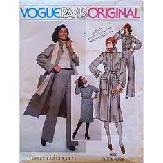 Miss Coat Belt Jacket Skirt Pants Vogue Paris 1538 Pattern Vintage Size 10 c1430