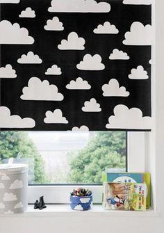 Rolgordijn Wolken - Zwart